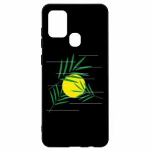 Etui na Samsung A21s Gałązki palmowe