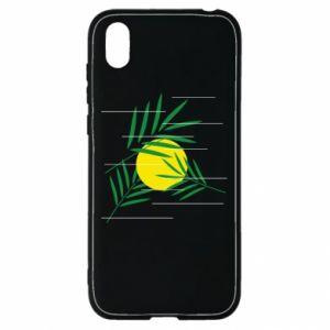 Etui na Huawei Y5 2019 Gałązki palmowe