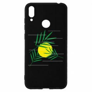 Etui na Huawei Y7 2019 Gałązki palmowe