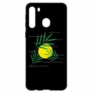 Etui na Samsung A21 Gałązki palmowe