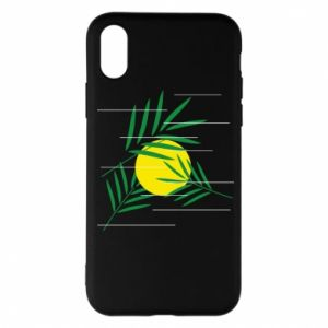 Phone case for iPhone X/Xs Palm branches