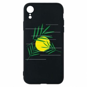 Phone case for iPhone XR Palm branches