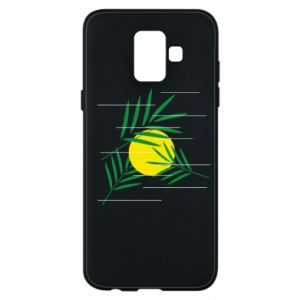 Phone case for Samsung A6 2018 Palm branches