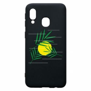 Phone case for Samsung A40 Palm branches