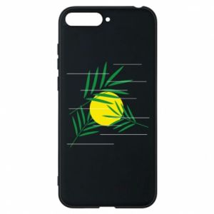 Phone case for Huawei Y6 2018 Palm branches