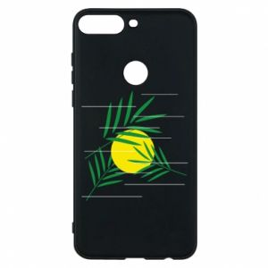 Phone case for Huawei Y7 Prime 2018 Palm branches