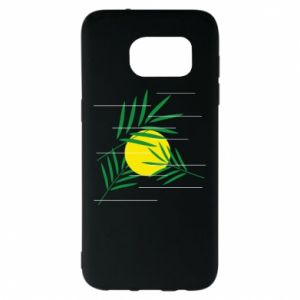 Etui na Samsung S7 EDGE Gałązki palmowe