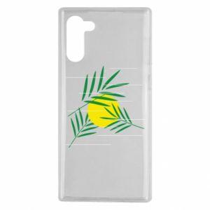 Etui na Samsung Note 10 Gałązki palmowe