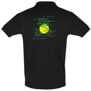 Men's Polo shirt Palm branches