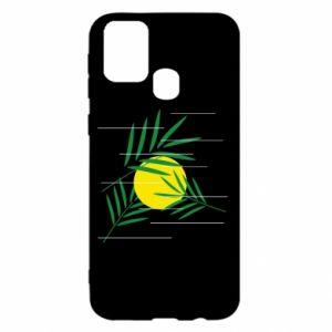 Etui na Samsung M31 Gałązki palmowe
