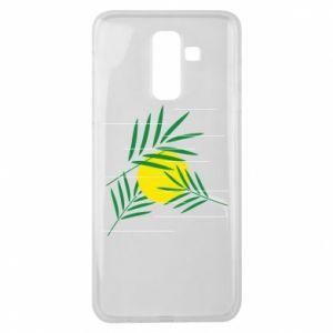 Etui na Samsung J8 2018 Gałązki palmowe
