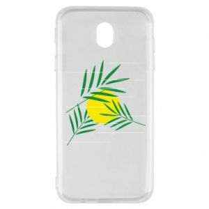 Etui na Samsung J7 2017 Gałązki palmowe