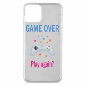 Etui na iPhone 11 Game over. Play again?