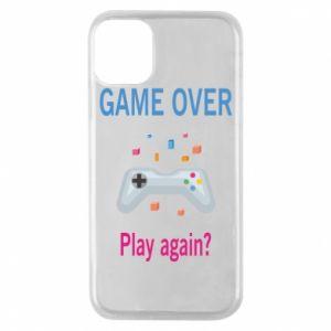Etui na iPhone 11 Pro Game over. Play again?
