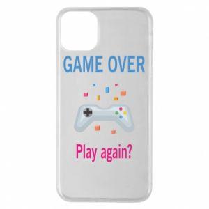 Etui na iPhone 11 Pro Max Game over. Play again?