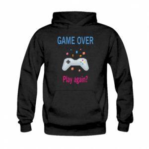 Bluza z kapturem dziecięca Game over. Play again?