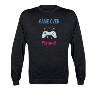 Bluza dziecięca Game over. Play again?