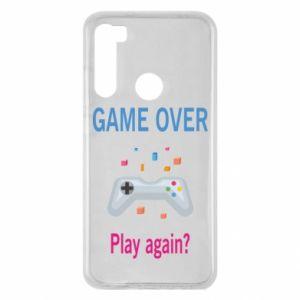 Etui na Xiaomi Redmi Note 8 Game over. Play again?