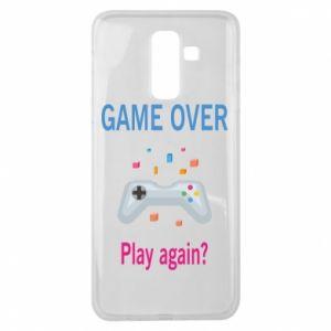 Etui na Samsung J8 2018 Game over. Play again?