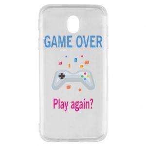Etui na Samsung J7 2017 Game over. Play again?