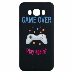 Etui na Samsung J7 2016 Game over. Play again?