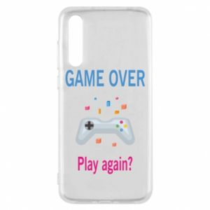 Etui na Huawei P20 Pro Game over. Play again?