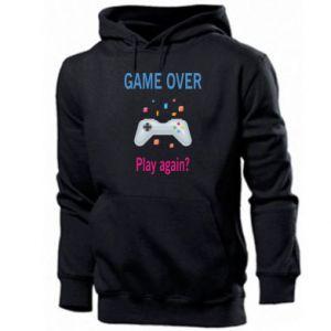 Bluza z kapturem męska Game over. Play again?