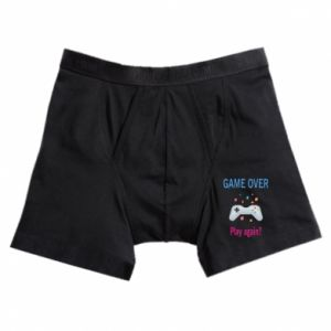 Boxer trunks Game over. Play again?