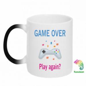 Kubek-kameleon Game over. Play again?