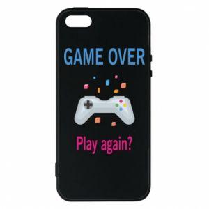 Etui na iPhone 5/5S/SE Game over. Play again?