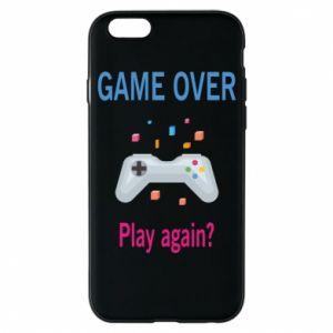 Etui na iPhone 6/6S Game over. Play again?