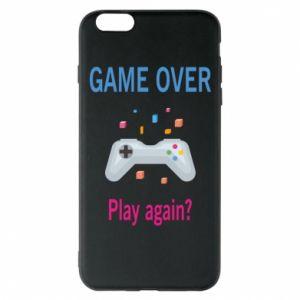 Etui na iPhone 6 Plus/6S Plus Game over. Play again?