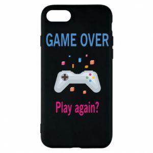 Etui na iPhone 7 Game over. Play again?