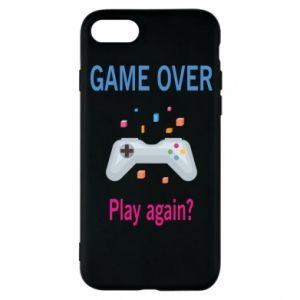 Etui na iPhone 8 Game over. Play again?