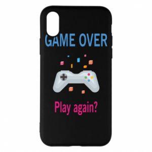 Etui na iPhone X/Xs Game over. Play again?
