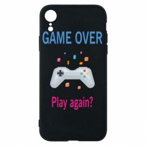 Etui na iPhone XR Game over. Play again?