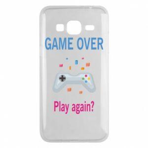 Etui na Samsung J3 2016 Game over. Play again?