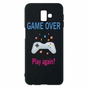 Etui na Samsung J6 Plus 2018 Game over. Play again?