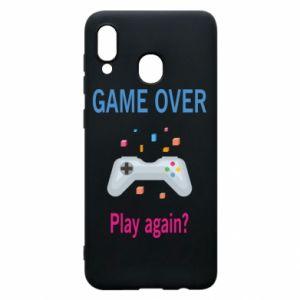 Etui na Samsung A20 Game over. Play again?