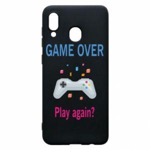 Etui na Samsung A30 Game over. Play again?