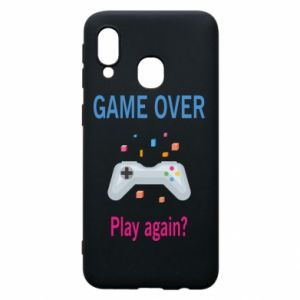 Etui na Samsung A40 Game over. Play again?