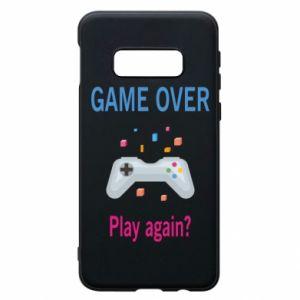 Etui na Samsung S10e Game over. Play again?