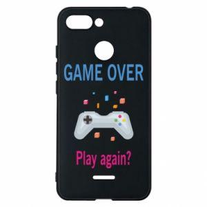 Etui na Xiaomi Redmi 6 Game over. Play again?