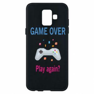 Etui na Samsung A6 2018 Game over. Play again?