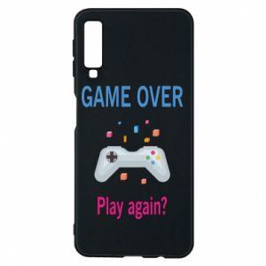 Etui na Samsung A7 2018 Game over. Play again?