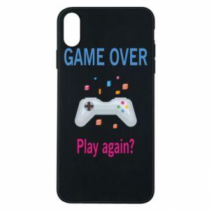 Etui na iPhone Xs Max Game over. Play again?