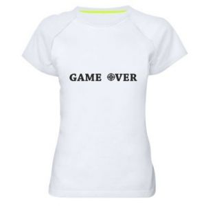 Women's sports t-shirt Game over