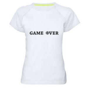 Damska koszulka sportowa Game over