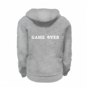 Kid's zipped hoodie % print% Game over
