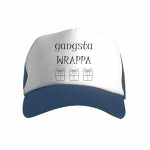 Kid's Trucker Hat Gangsta Wrappa